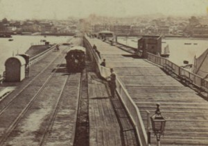 1860s image of  Ryde Pier
