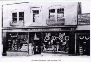 Ellis Palmer's shop in Union Street
