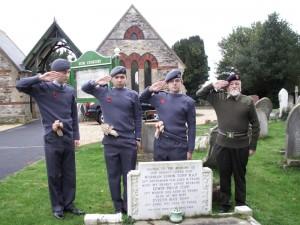 Grave of N E Topp RAF