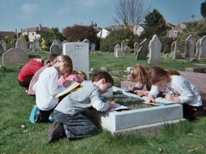 A School Group in Ryde Cemetery