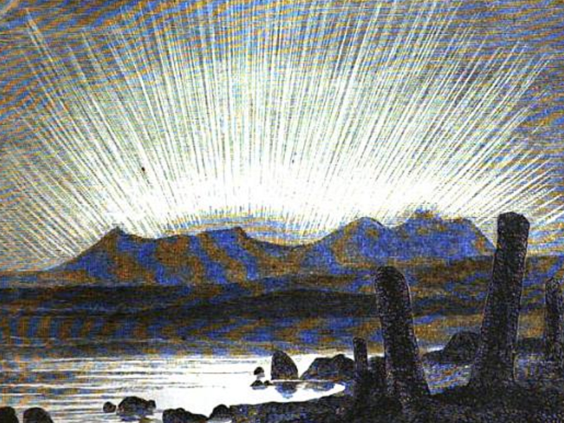 Aurora Borealis seen from Norway in 1869