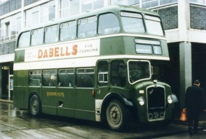 Bristol LD6G Lodekka KDL410 56 seater in Southern Vectis use 1956