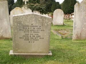 Alexander Frederick de Gex grave