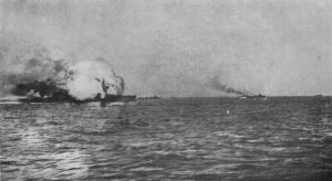 Destruction of HMS Invincible at Jutland