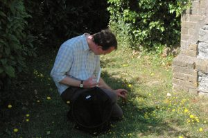 Richard Smout leading butterfly walk 1 July 2006