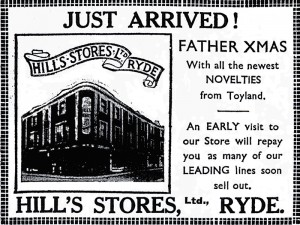 Father Xmas at Hill's Stores in 1934